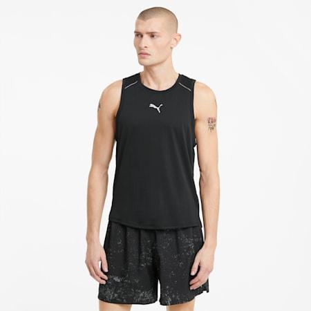 COOLadapt Men's Running Singlet, Puma Black, small-GBR