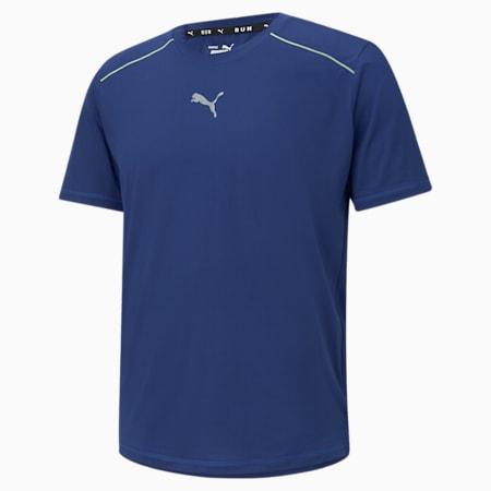 COOLadapt Short Sleeve Men's Running Tee, Elektro Blue, small