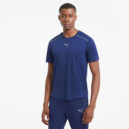 COOLadapt Short Sleeve Men's Running Tee, Elektro Blue, small