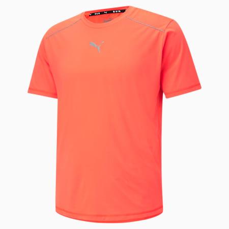 COOLadapt Short Sleeve Men's Running  T-shirt, Lava Blast, small-IND