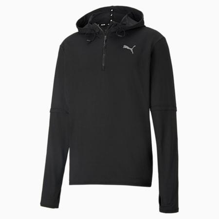 Hooded Men's Running Mid-Layer, Puma Black, small
