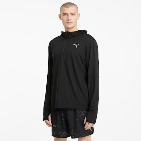 Veste intermédiaire de course à capuche homme, Puma Black, small