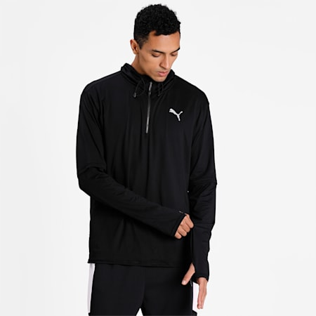 Hooded Men's Running Mid-Layer, Puma Black, small-IND