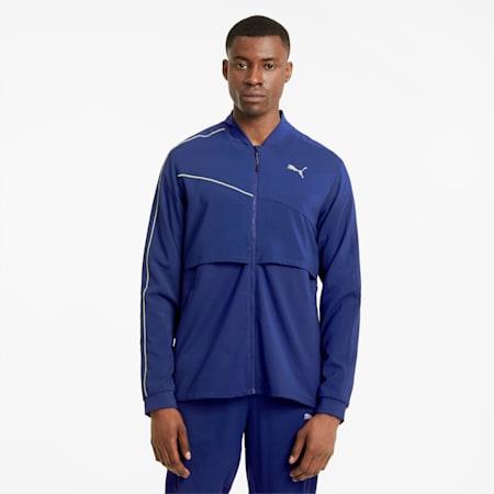 COOLadapt Ultra Men's Running Jacket, Elektro Blue-Puma Black, small