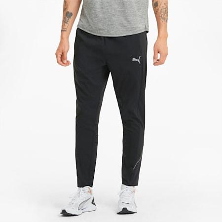 Pantaloni da running affusolati Woven uomo, Puma Black, small