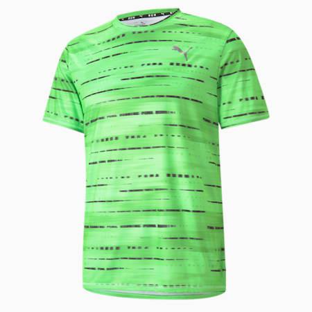 T-shirt de course graphique, homme, Vert Elektro, petit