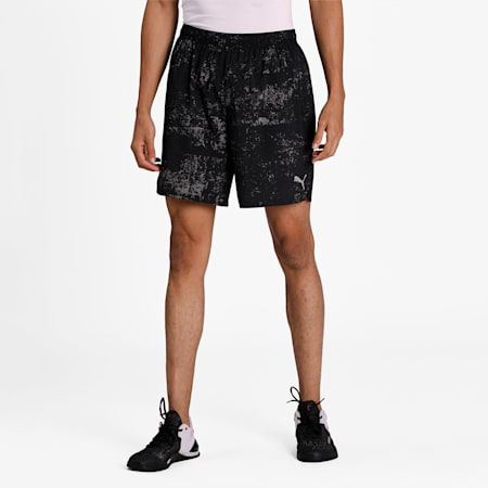 """Graphic Woven 7"""" Men's Running Shorts, Puma Black, small-IND"""