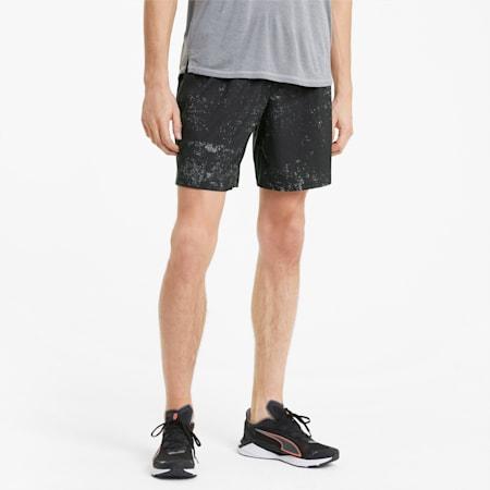 Shorts para correr estampados para hombre, Puma Black, pequeño