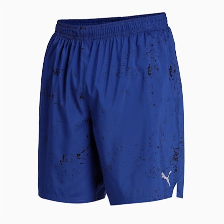 """Graphic Woven 7"""" Men's Running Shorts, Elektro Blue, small-IND"""