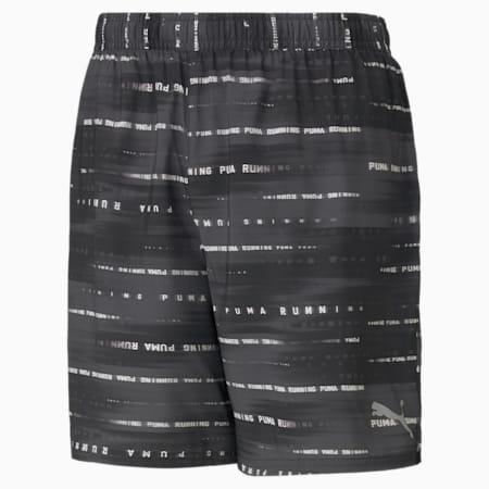 "Graphic Woven 7"" Men's Running Shorts, Puma Black-Elektro Green, small-IND"