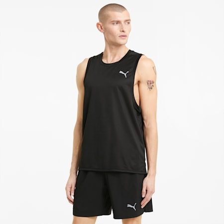 Favorite Men's Running Singlet, Puma Black, small-GBR