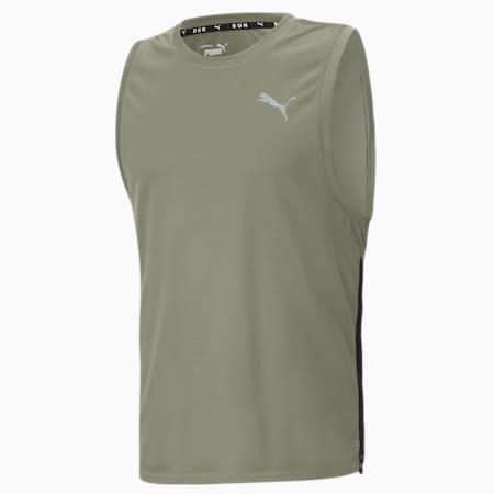 Camiseta para correr sin mangas Favorite para hombre, Vetiver-Puma Black, pequeño
