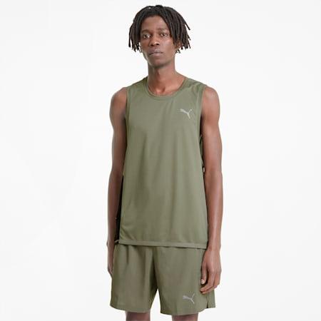 Favorite Men's Running Singlet, Vetiver-Puma Black, small