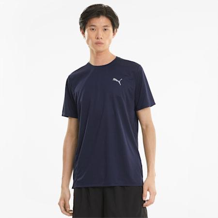 Camiseta de running de manga corta Favourite para hombre, Peacoat, small
