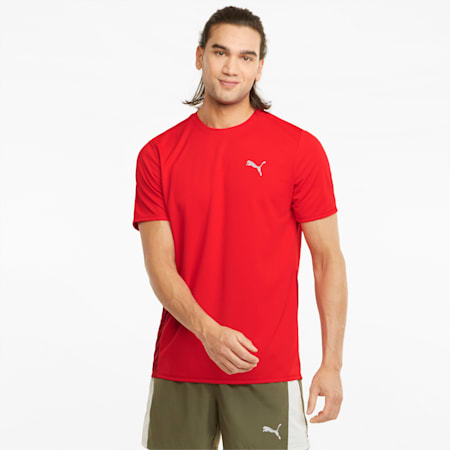 T-shirt de course à manches courtes Favourite homme, High Risk Red-Intense Red, small