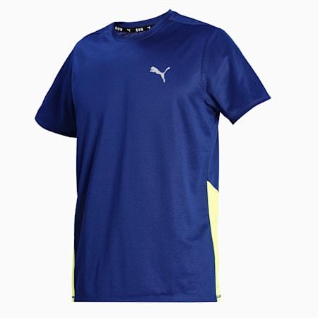 Favourite Short Sleeve Men's Running  T-shirt, Elektro Blue-Yellow Alert, small-IND
