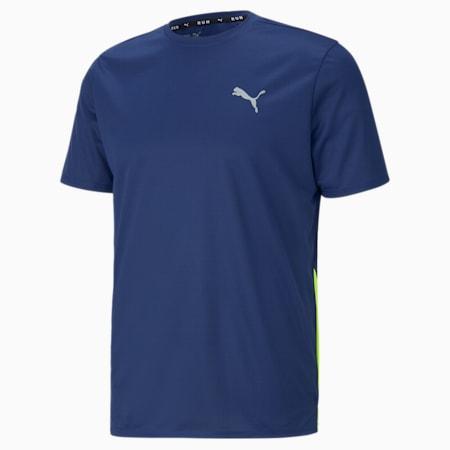 Favourite Short Sleeve Men's Running Tee, Elektro Blue-Yellow Alert, small-SEA