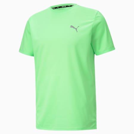 Favourite Short Sleeve Men's Running Tee, Elektro Green-Puma Black, small