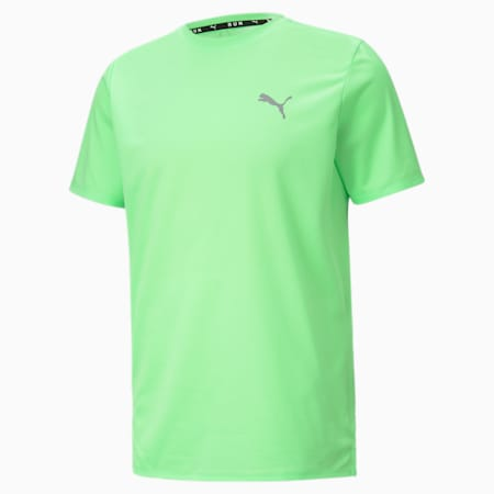 Favourite Short Sleeve Men's Running Tee, Elektro Green-Puma Black, small-GBR