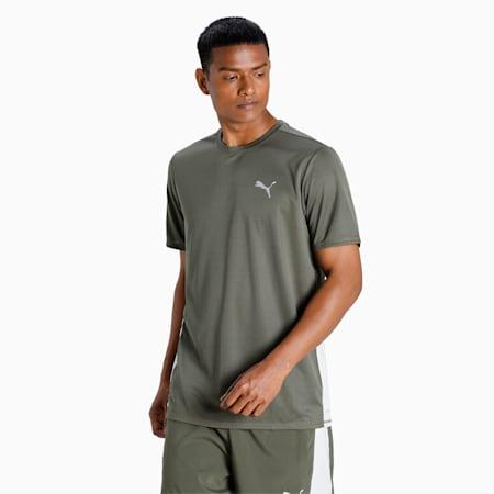Favourite Short Sleeve Men's Running  T-shirt, Grape Leaf-Gray Violet, small-IND