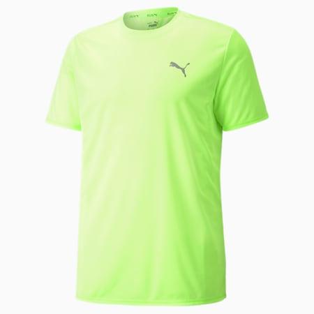 Favourite Short Sleeve Men's Running  T-shirt, Green Glare-Spellbound, small-IND