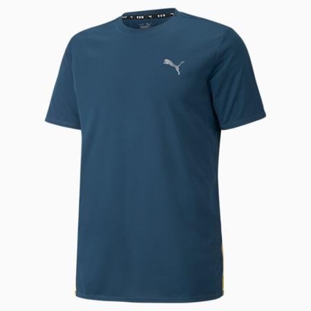 Favourite Short Sleeve Men's Running Tee, Intense Blue-Mineral Yellow, small-GBR