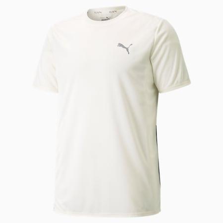 Favourite hardloopshirt met korte mouwen heren, Ivory Glow-Midnight Green, small