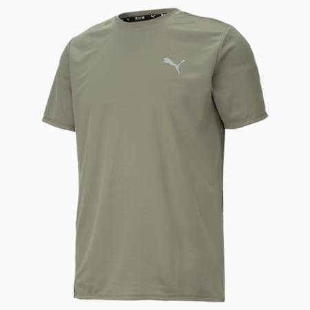 Favourite Short Sleeve Men's Running Tee, Vetiver-Puma Black, small-GBR