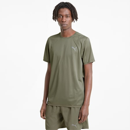 Favourite Short Sleeve Men's Running Tee, Vetiver-Puma Black, small