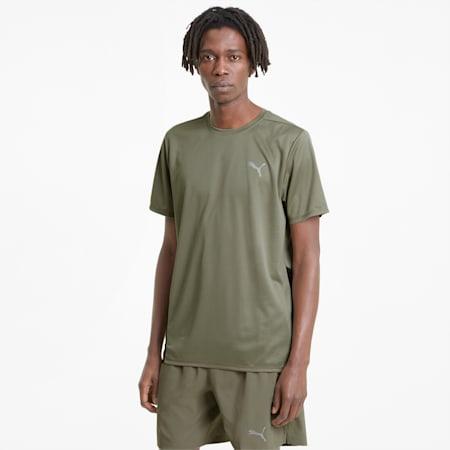 Favourite hardloopshirt met korte mouwen heren, Vetiver-Puma Black, small
