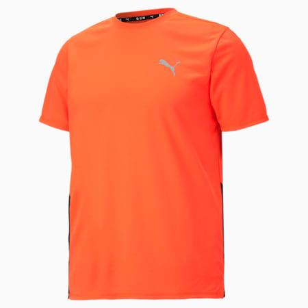 Favourite Short Sleeve Men's Running Tee, Lava Blast-Puma Black, small-GBR