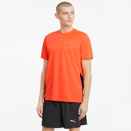 Favourite Short Sleeve Men's Running Tee, Lava Blast-Puma Black, small