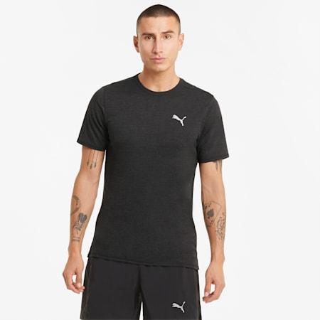 Favourite Heather Short Sleeve Men's Running Tee, Puma Black Heather, small-GBR