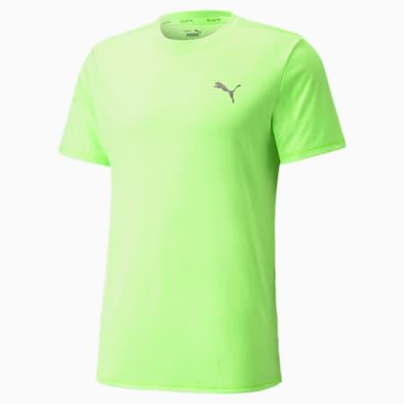 Favourite Heather Short Sleeve Men's Running Tee, Green Glare Heather, small-GBR