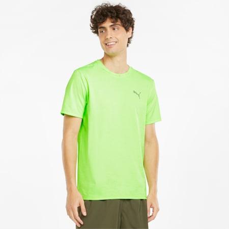 Favourite Heather Short Sleeve Men's Running Tee, Green Glare Heather, small