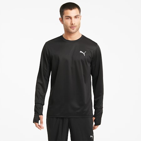 Favourite Long Sleeve Men's Running Tee, Puma Black, small-GBR
