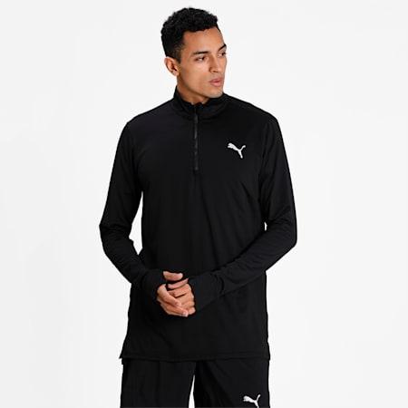 Favourite Quarter-Zip Men's Running Performance T-Shirt, Puma Black, small-IND