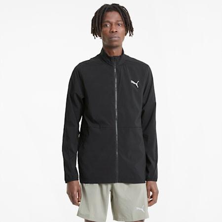 Favourite Woven Men's Running Jacket, Puma Black, small-GBR