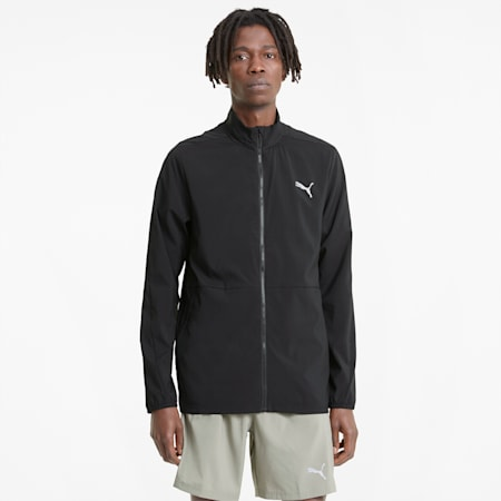 Favourite Woven Men's Running Jacket, Puma Black, small-IND