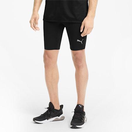Pantaloni aderenti da running corti Favourite uomo, Puma Black, small
