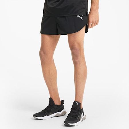 Favourite Split Men's Running Shorts, Puma Black, small-IND