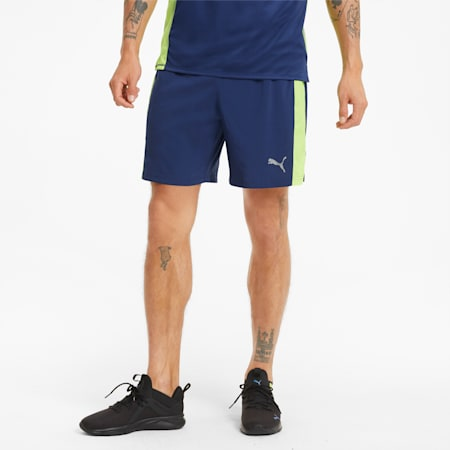 """Favourite Woven 7"""" Men's Session Running Shorts, Elektro Blue-Yellow Alert, small-IND"""