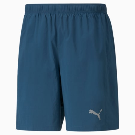 """Favourite Woven 7"""" Session Men's Running Shorts, Intense Blue, small"""