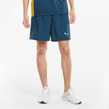 """Favourite Woven 7"""" Men's Session Running Shorts, Intense Blue, small-IND"""