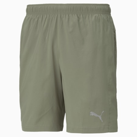 """Favourite Woven 7"""" Session Men's Running Shorts, Vetiver, small"""