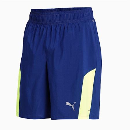 "Run Favourite Woven 2-in-1 7"" Men's Running Tight Shorts, Elektro Blue-Yellow Alert, small-IND"