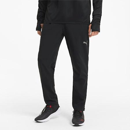 Pantalones de running de corte cónico Favourite para hombre, Puma Black, small