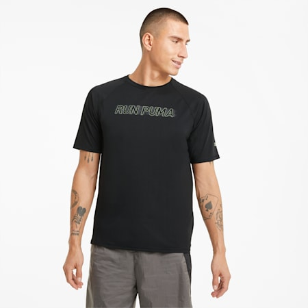 T-shirt da running a maniche corte COOLadapt uomo, Puma Black, small