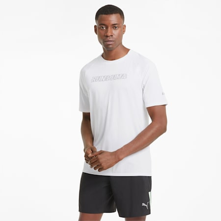 COOLadapt Short Sleeve Men's Running Tee, Puma White, small