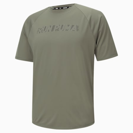 COOLadapt Short Sleeve Men's Running Tee, Vetiver, small